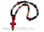 Православные четки 50 бусин 8 мм. из разных камней с крестиком